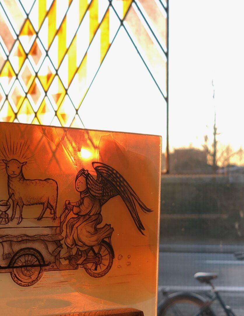 Cartoons geïnspireerd door Van Eyck, (OMG Van Eyck was here) – ontw. Joris Snaet – © Atelier Mestdagh