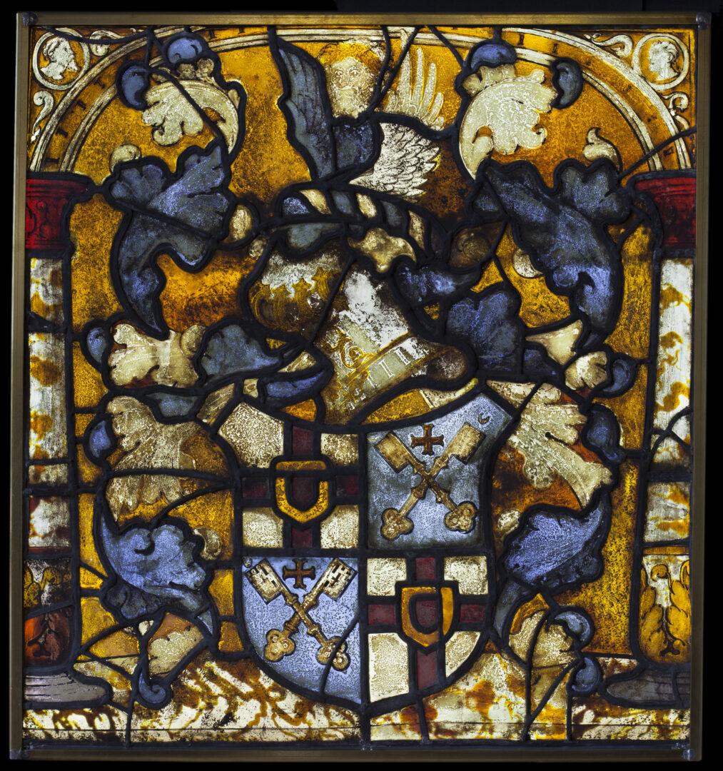 Conservatie van twee 16e-eeuwse brandglasramen in de St.-Genovevakerk te Steenhuffel, i.s.m. Sarah Jarron – Atelier Mestdagh