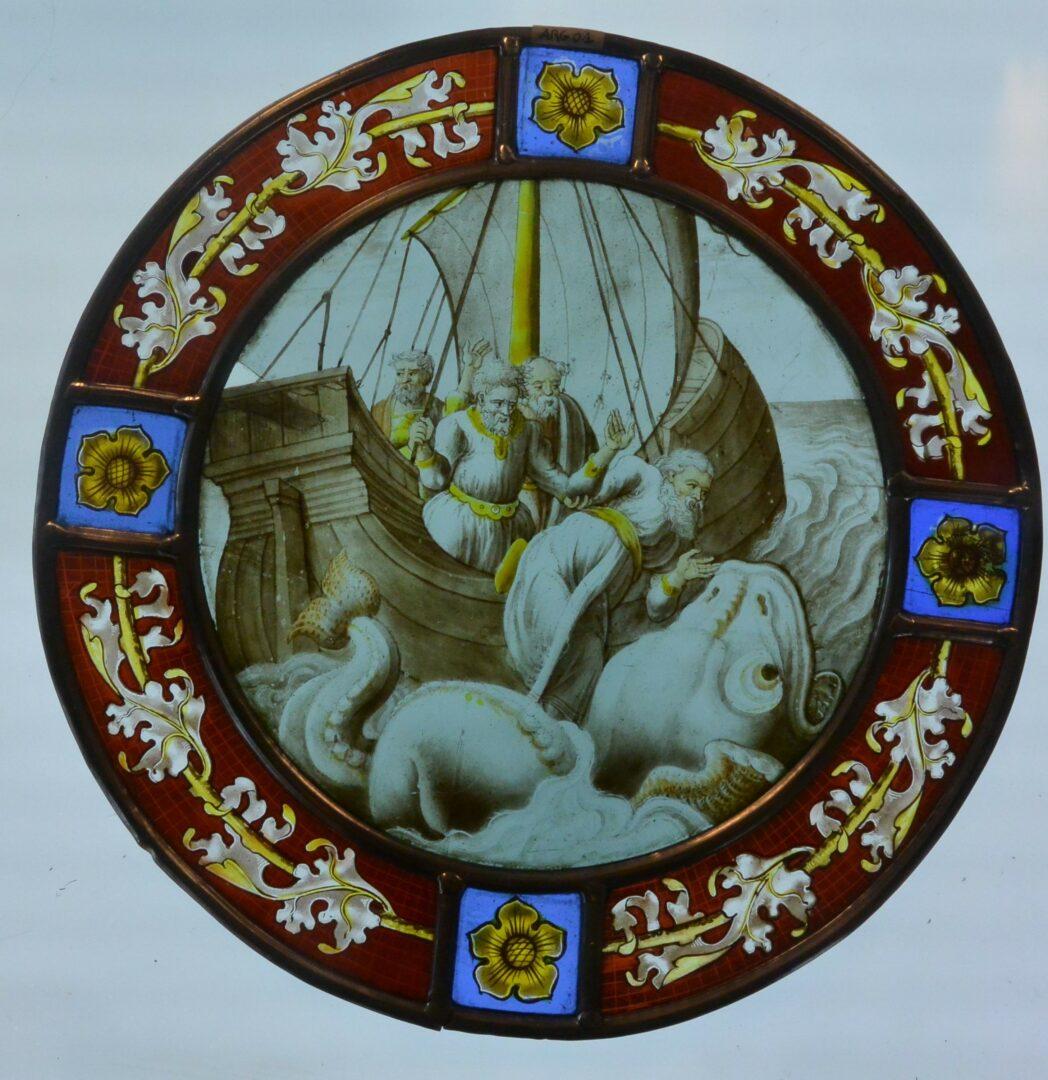 Conservatie van medaillons uit de Arenberg collectie van de KUL – © Atelier Mestdagh stained glass