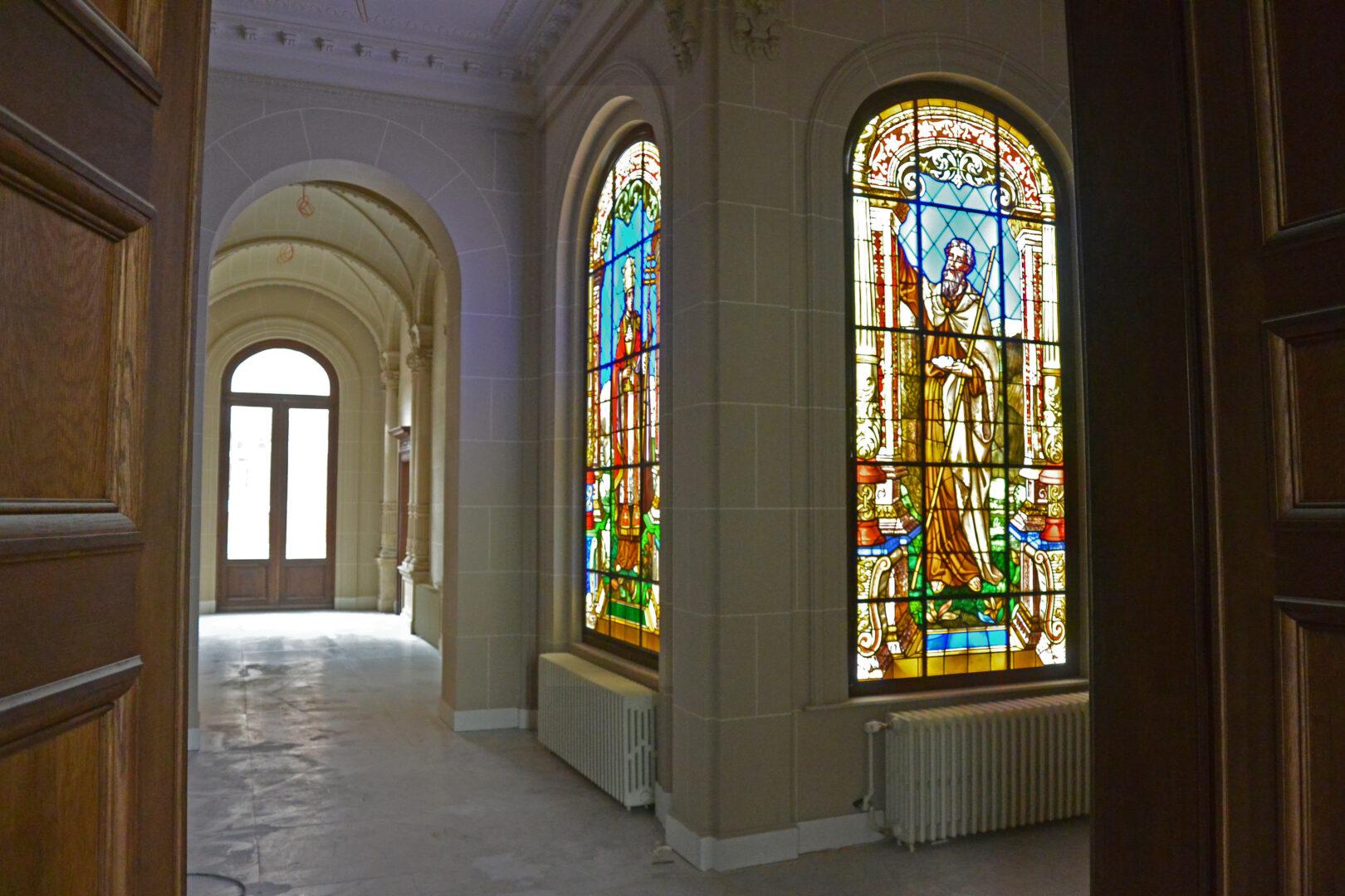 Restauratie en reconstructie 19e-eeuwse brandglasramen in Hotel Empain (Brussel) - © Atelier Mestdagh
