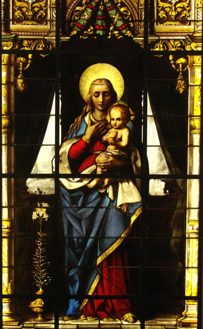 Herintegratie van 'Madonna met kind' van J.B. Capronnier van de school naar de O.L.Vrouw Ter Sneeuw kerk te Destelbergen – © Atelier Mestdagh
