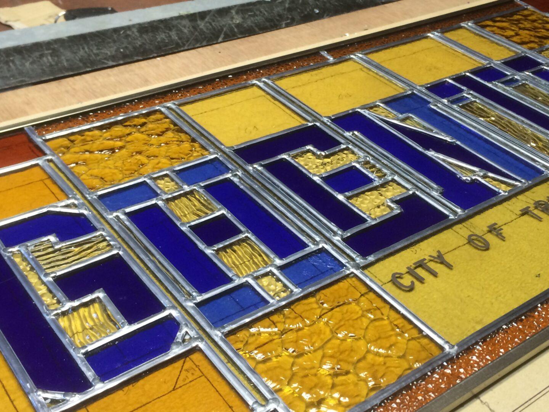 Ghentian in glasraam – ontw. Michael Tiger (Ghent in Motion) – © Atelier Mestdagh