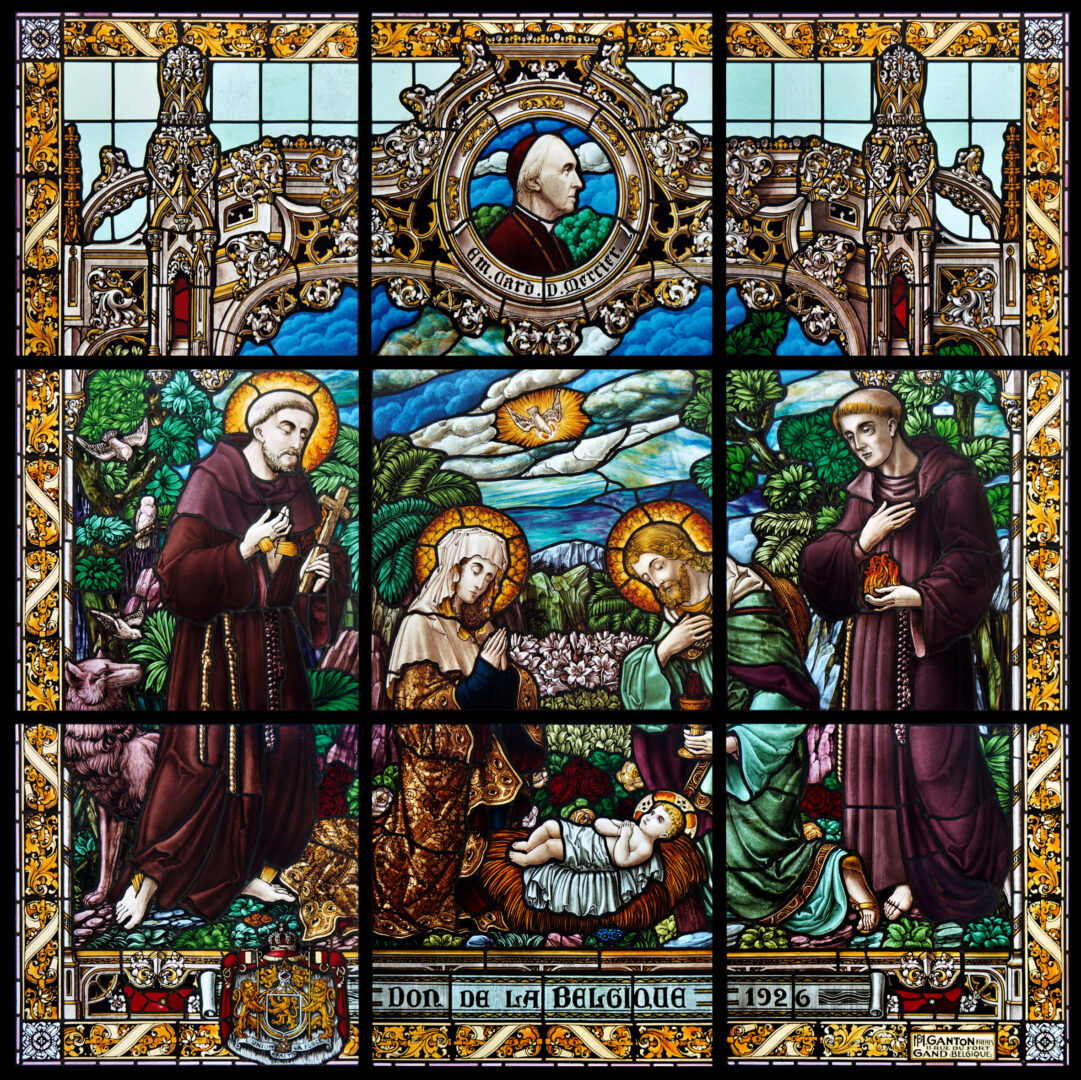 Restauratie 19e-eeuws brandglasraam uit St.-Catharinakerk (Nativity Complex), Bethlehem (Palestina) - © Atelier Mestdagh Stained Glass