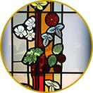 Eigen creaties herbestemming glas in lood Atelier Mestdagh stained glass