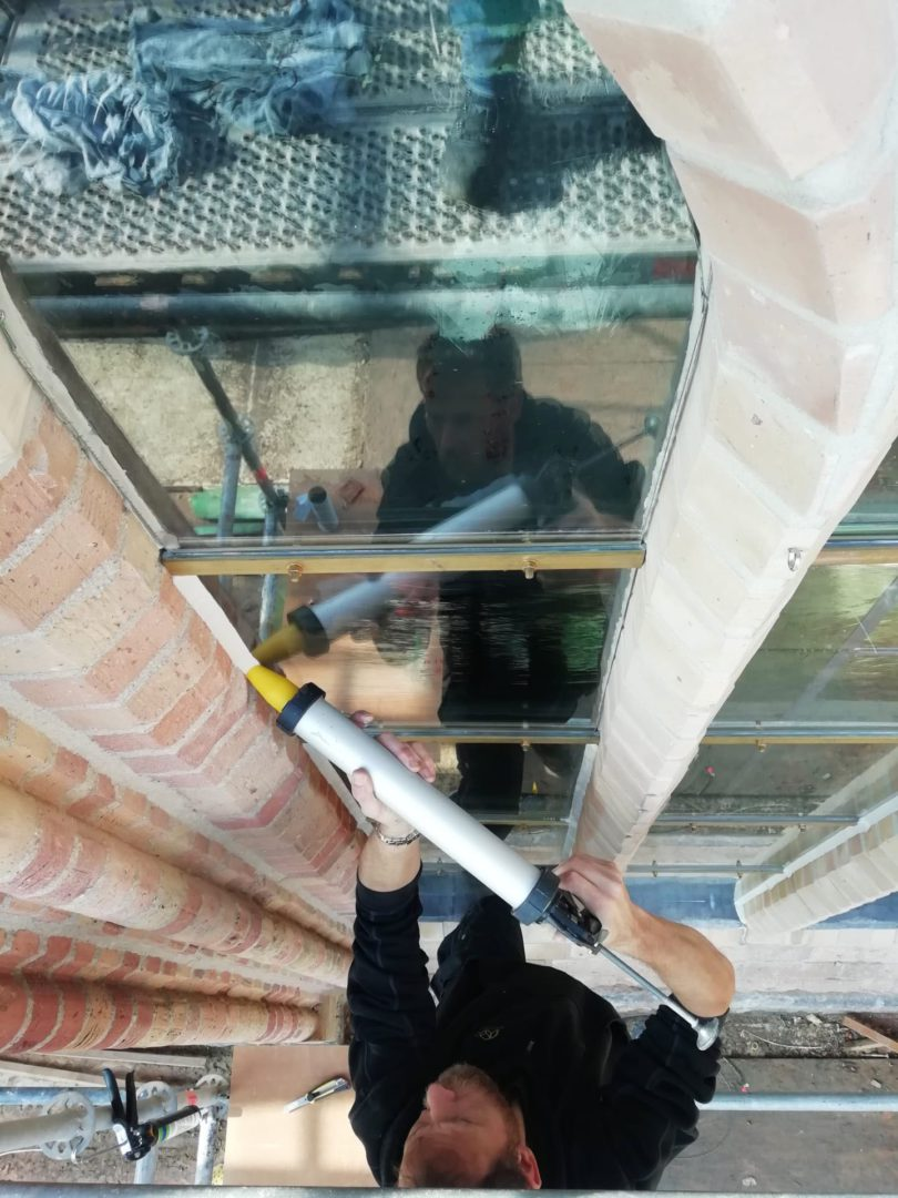 Isolatie Voorzet glas in lood Atelier Mestdagh Merelbeke Stained Glass