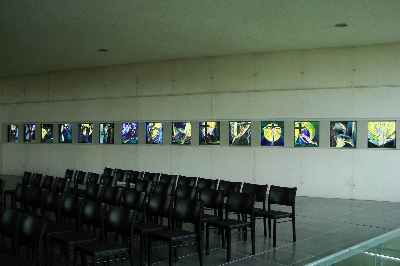 'Kruisweg', kerk Waarschoot. Ontwerp: Ingrid Meyvaert © Atelier Mestdagh