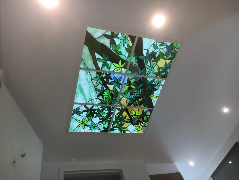 LED-Sheet 'Licht is essentie' glas in lood