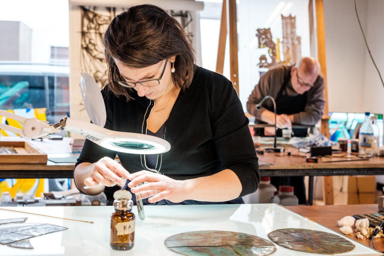 vooronderzoek Restauratie glas in lood Atelier Mestdagh Stained Glass