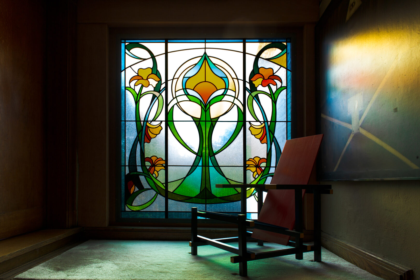 Ingrid Meyvaert Atelier Mestdag Interieur glas in lood stained glass