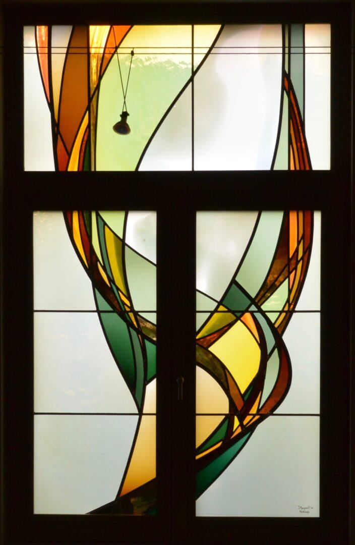Eigen ontwerpen glas in lood Ingrid Meyvaert Atelier Mestdag stained glass