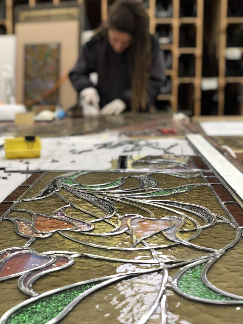 restauratie glas in lood Atelier Mestdagh Merelbeke