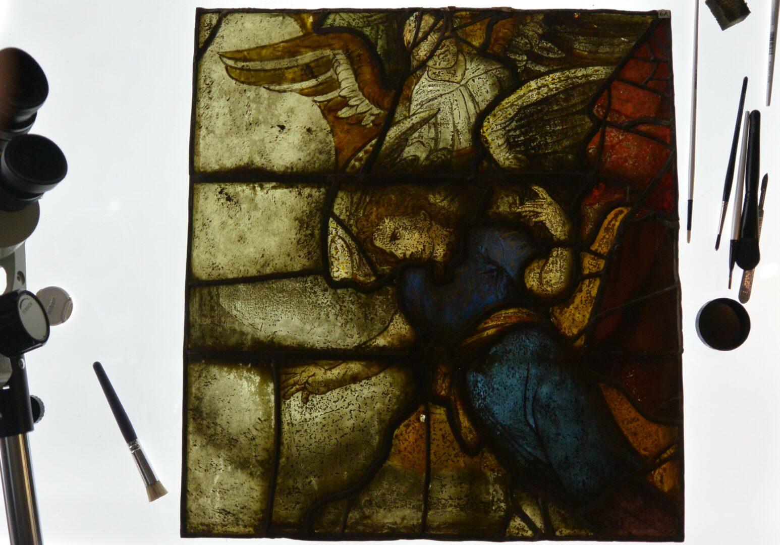 vooronderzoek glas in lood herstelling Atelier Mestdagh Merelbeke