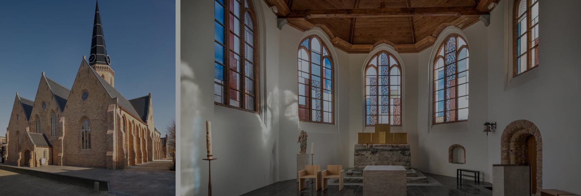 Heropgebouwde kerk, nieuwe glasramen in Westkapelle!
